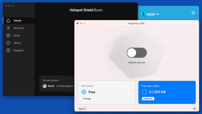 Selection of Free VPN Services