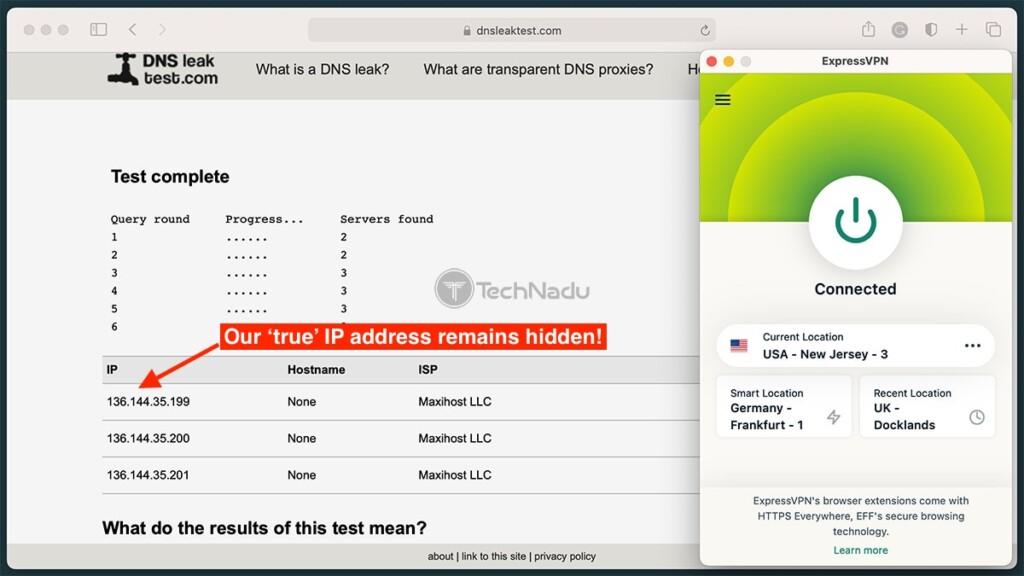 DNS Leak Test ExpressVPN