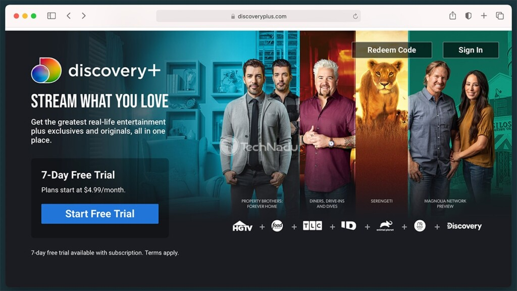 Discovery Plus Official Website Homepage
