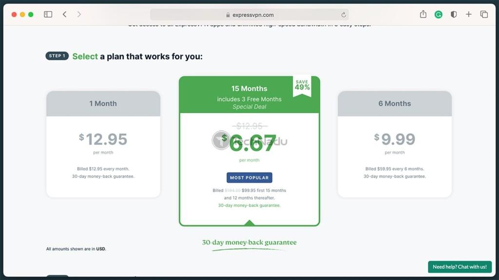 Latest ExpressVPN Subscription Pricing Plans