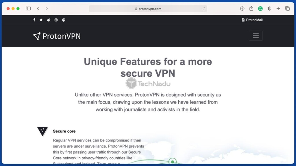 List of ProtonVPN Features