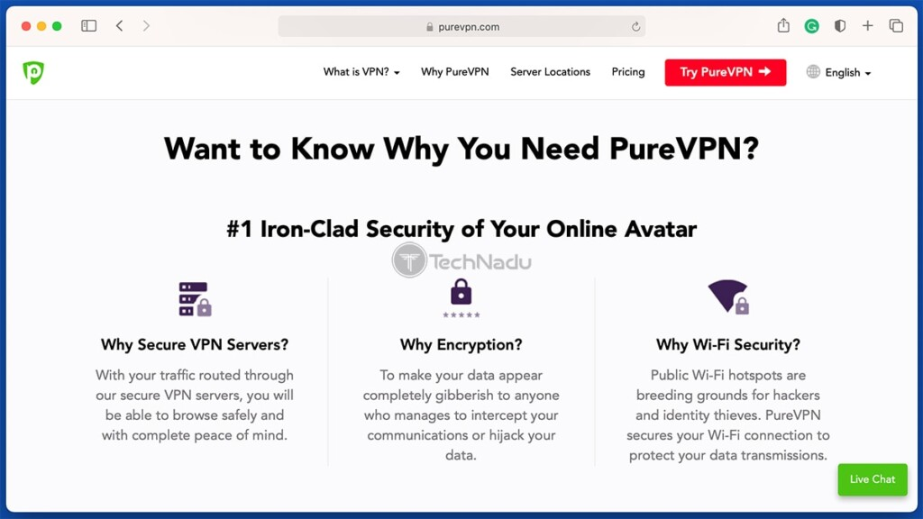 List of PureVPN Features as Advertised