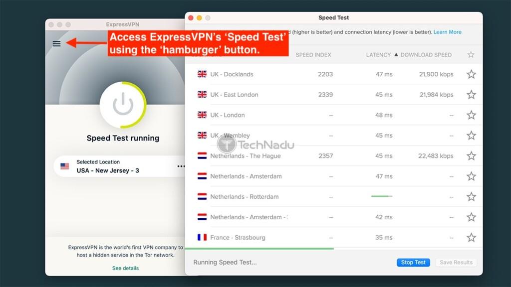 Running an ExpressVPN Server Speed Test