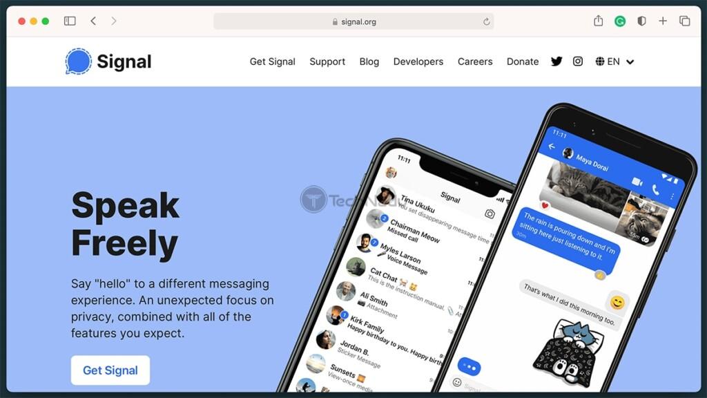 Signal Messenger Homepage