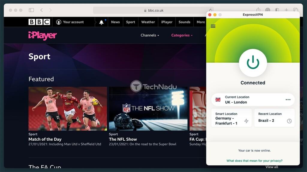 Streaming BBC iPlayer via ExpressVPN UK Server