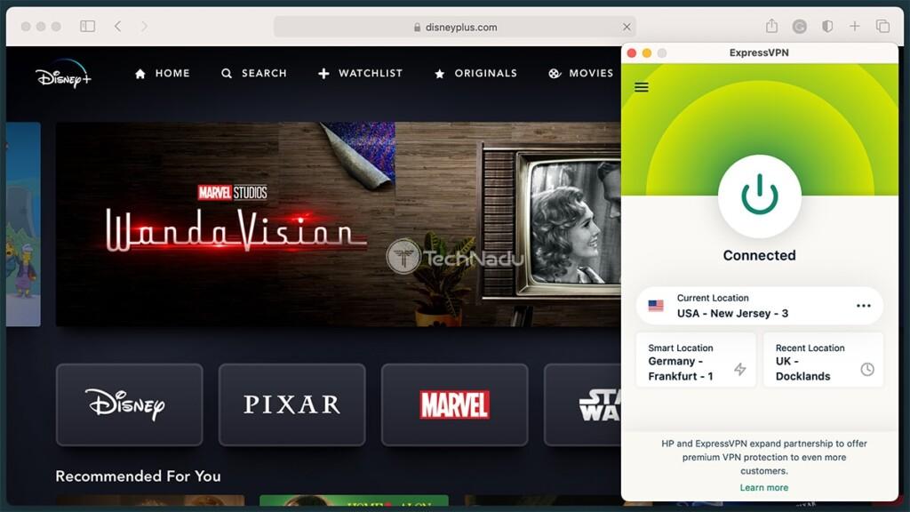 Unblocking Disney Plus via ExpressVPN