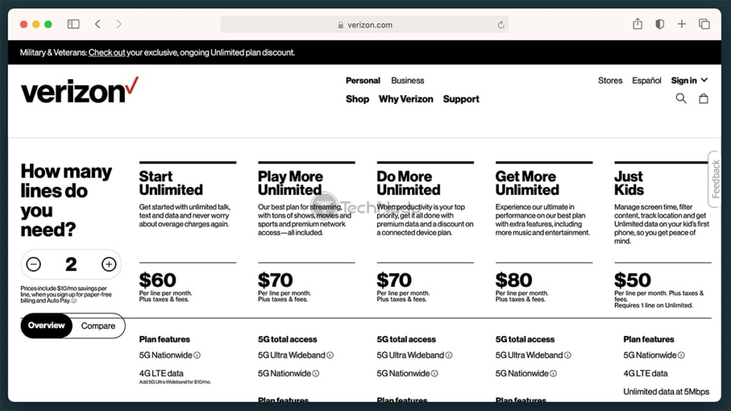 Verizon Unlimited Plans With Discovery Plus Promo