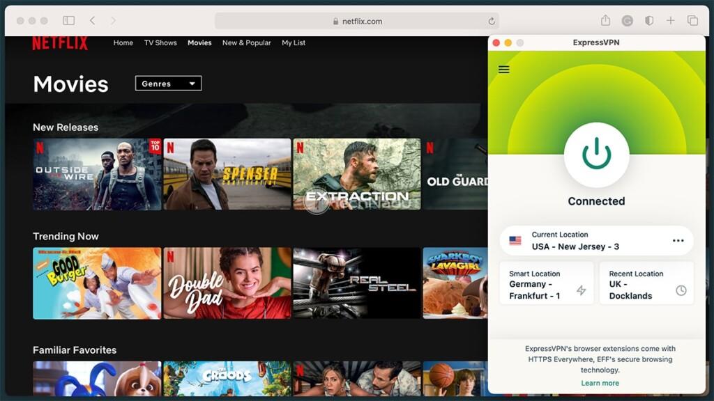 Watching Netflix via ExpressVPN