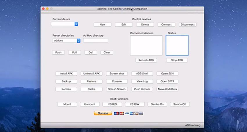 ADB Link Home Screen