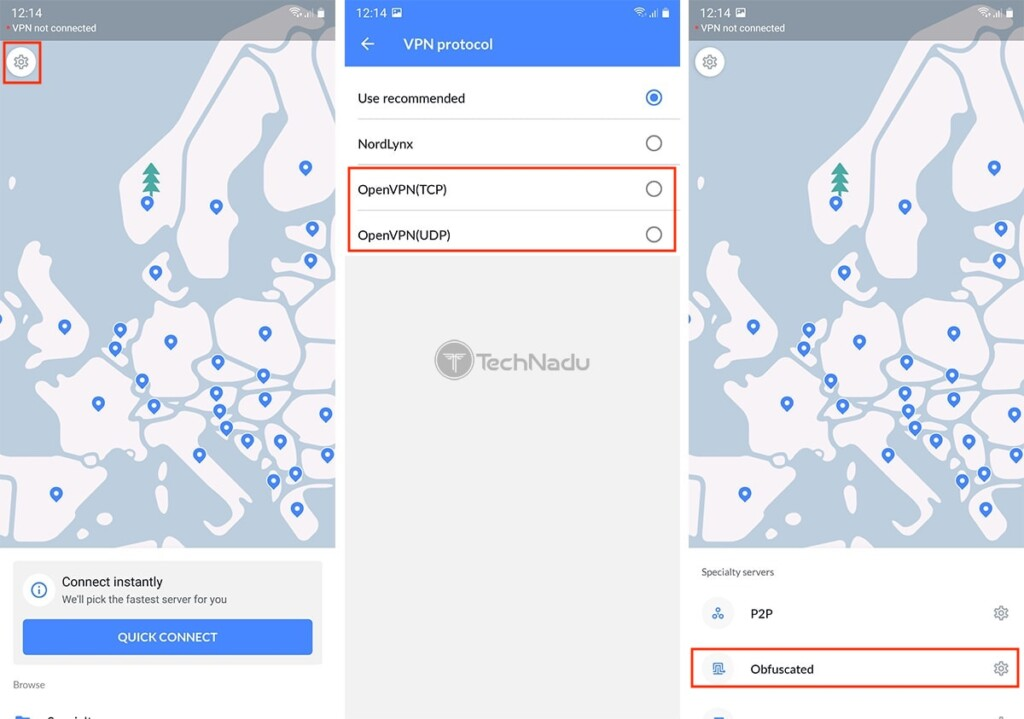 Accessing Obfuscated NordVPN Servers on Android