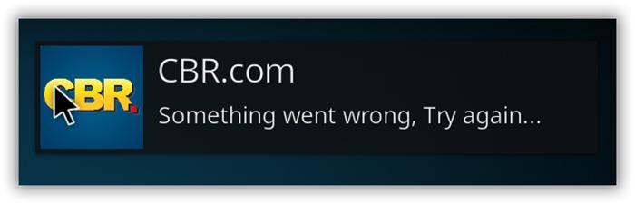 Kodi Error Something Went Wrong