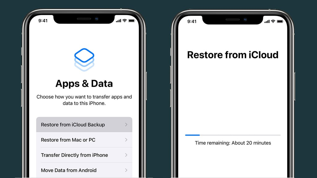 Restoring iCloud Backup While Setting Up New iPhone