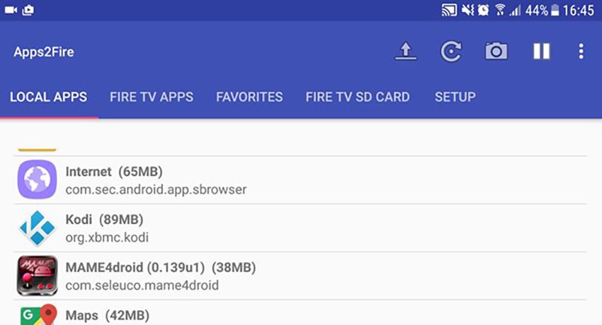 Using Apps2Fire to Install Kodi on Firestick