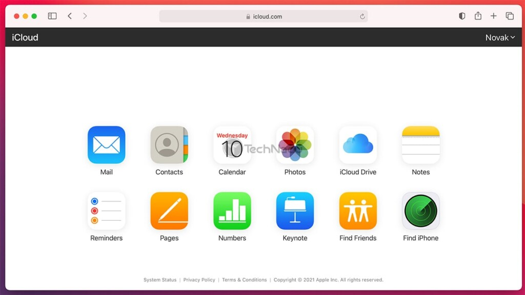 iCloud for Web Available Online Tools