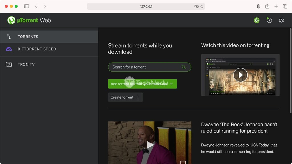 uTorrent Web Interface