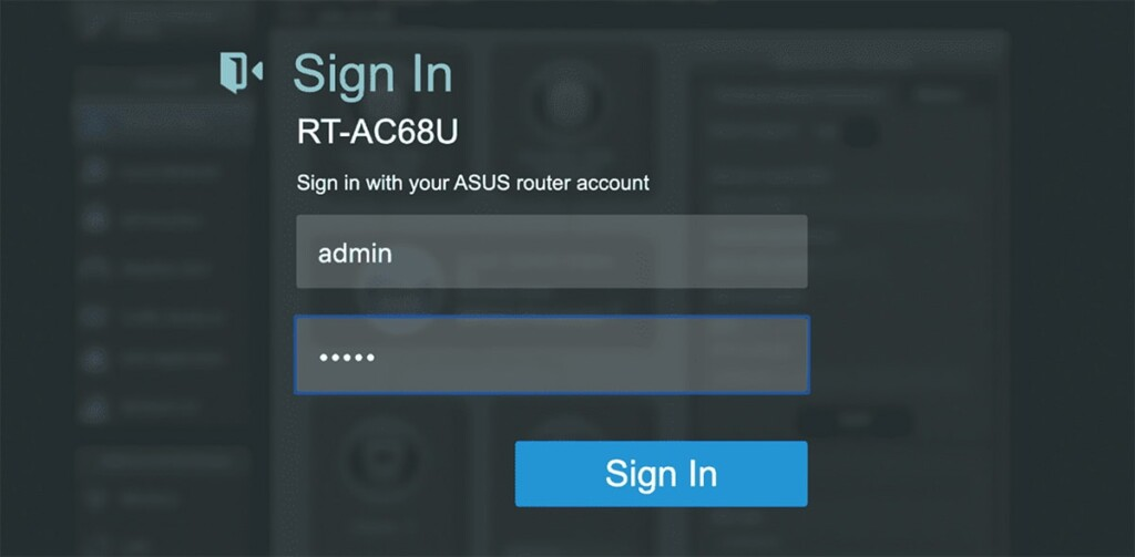 Accessing Asus Router Admin Panel
