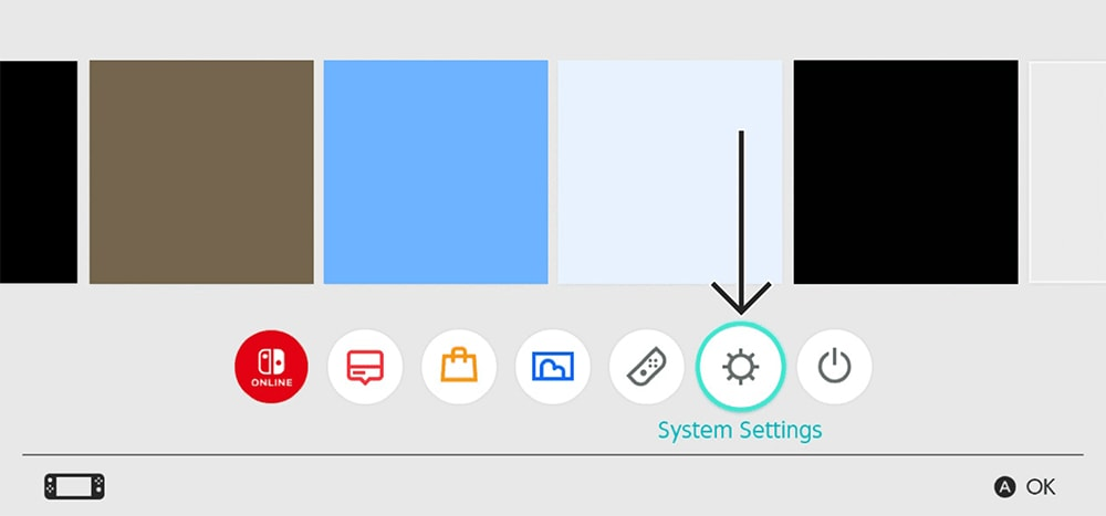 Accessing System Settings on Nintendo Switch