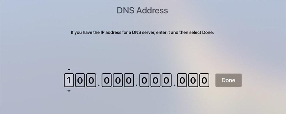 Add Custom DNS to Apple TV