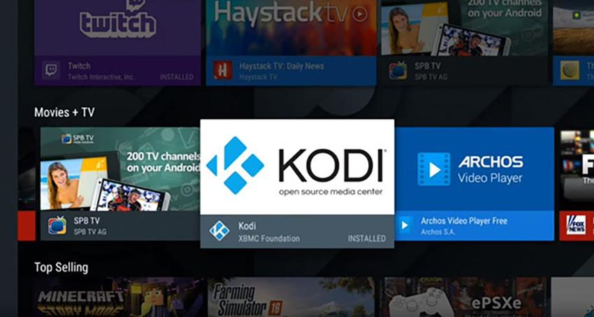 Browsing Kodi Among Android Apps on Nvidia Shield TV