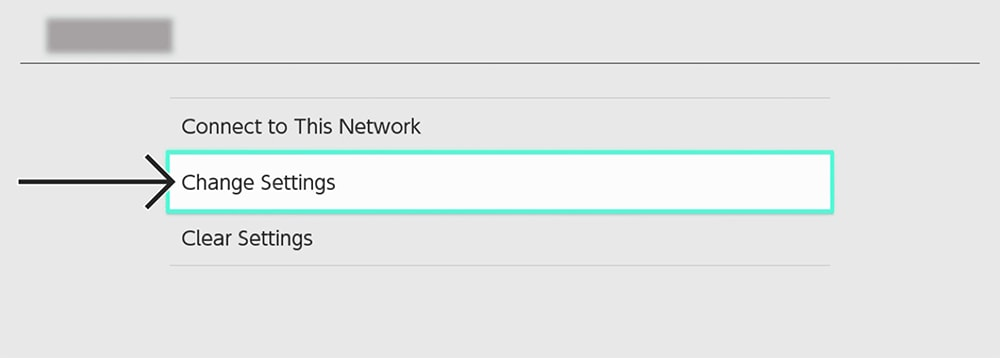 Changing Network Settings on Nintendo Switch