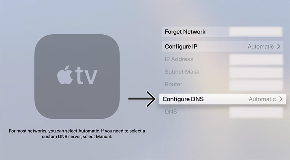 Configuring DNS Address on tvOS