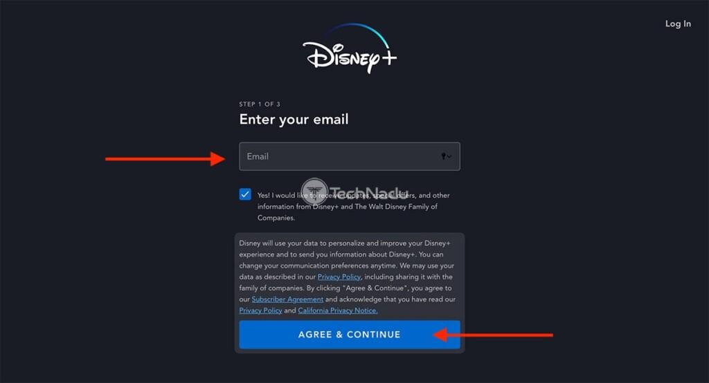 Creating Disney Plus Account