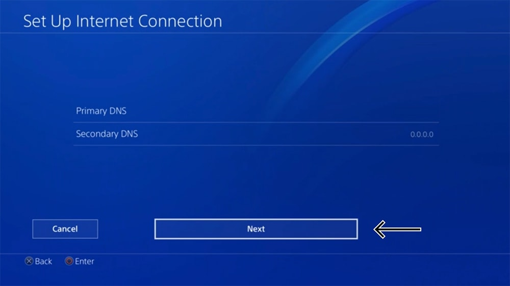 DNS Parameters Changes on PlayStation
