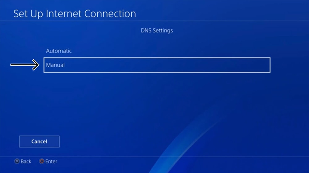 DNS Settings on PlayStation