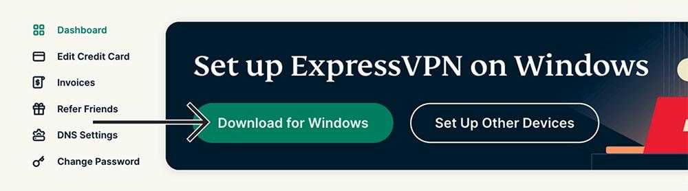 Downloading ExpressVPN for Windows