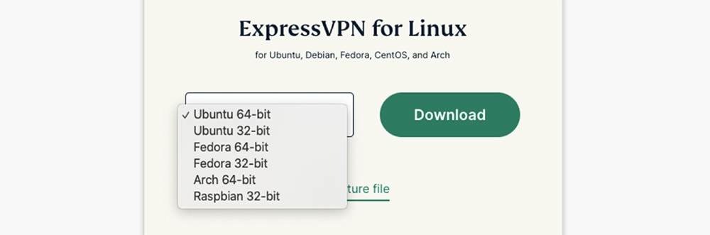 Downloading ExpressVPN on Linux