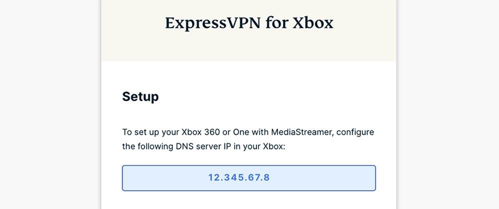 ExpressVPN DNS Address for Xbox