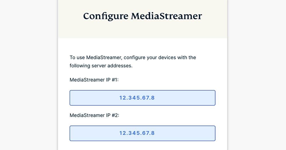 ExpressVPN MediaStreamer Addresses