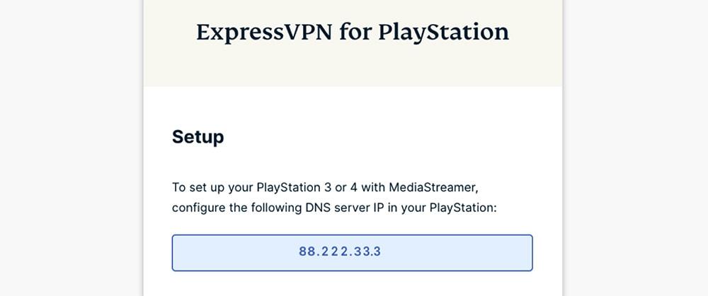 Getting ExpressVPN DNS Address for PlayStation