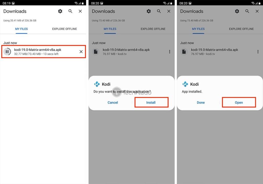 Installing Kodi APK on Android
