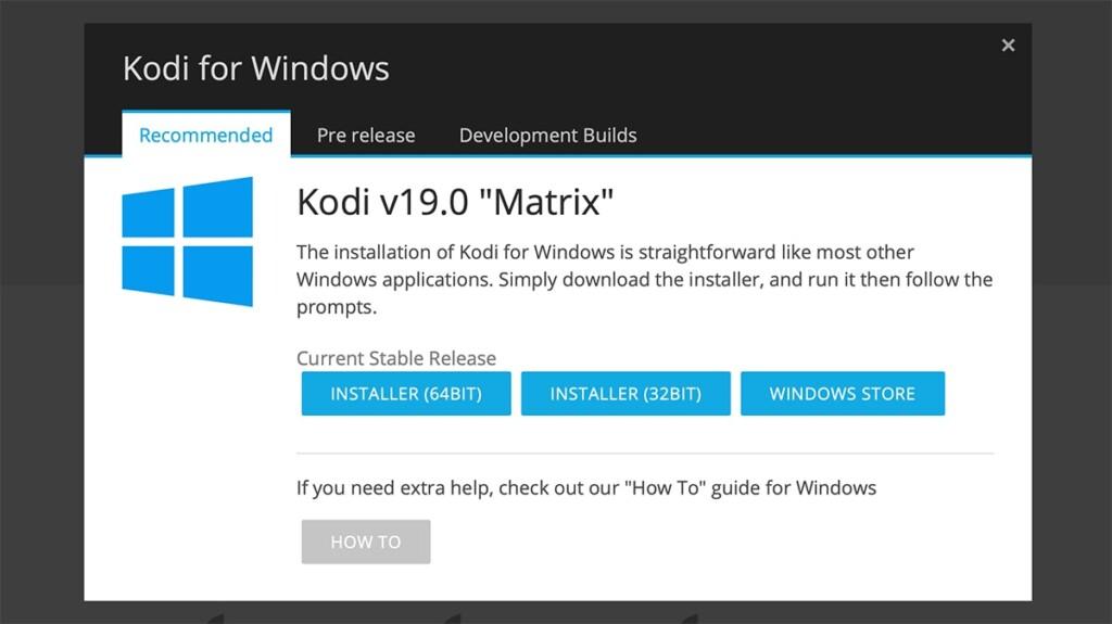 Kodi 19 Matrix for Windows Download