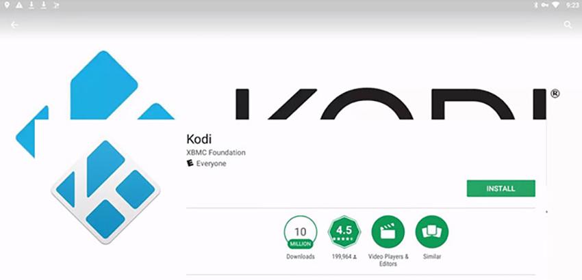Kodi on PlayStore via Chromebook