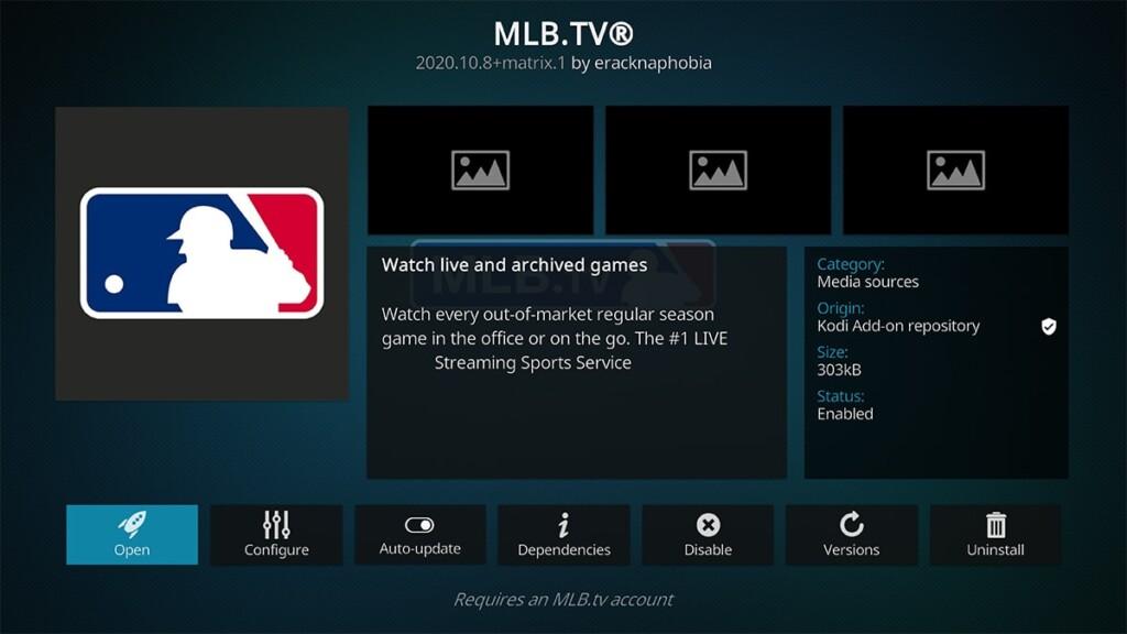 MLBTV Addon for Kodi