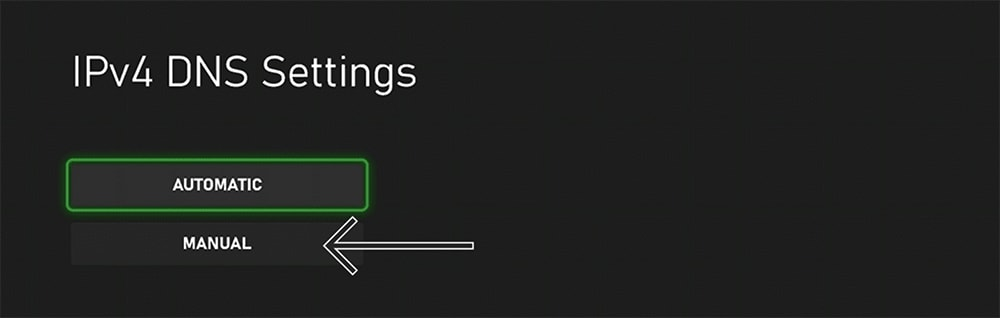 Manual Configuration of DNS on Xbox