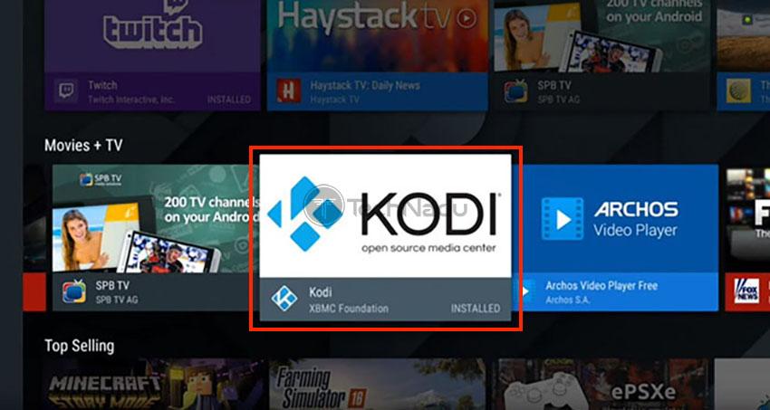 Opening Kodi on Android TV