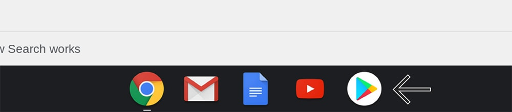 Play Store Icon on Chrome OS
