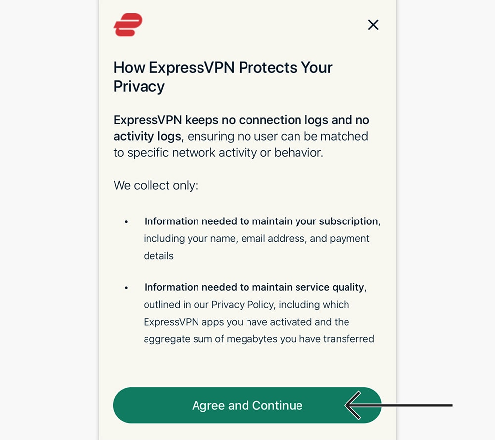 Privacy Overview of ExpressVPN for iPhone
