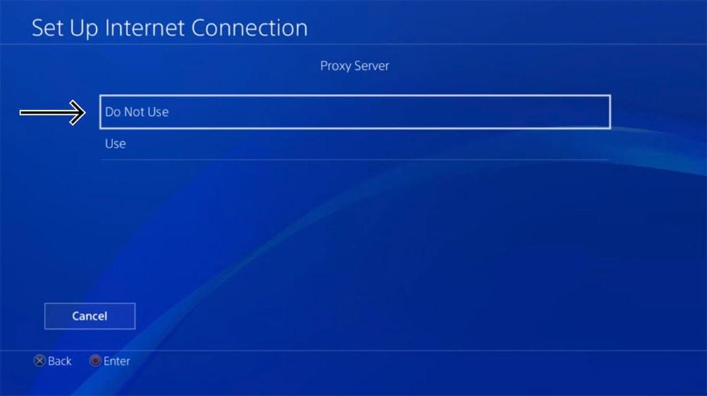 Proxy Server Settings on PlayStation