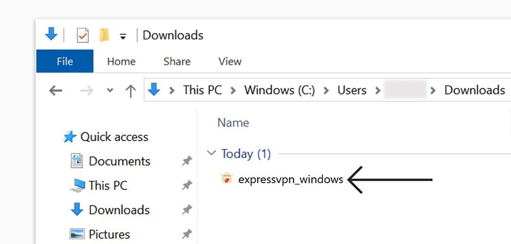 Running ExpressVPN Installation File on Windows