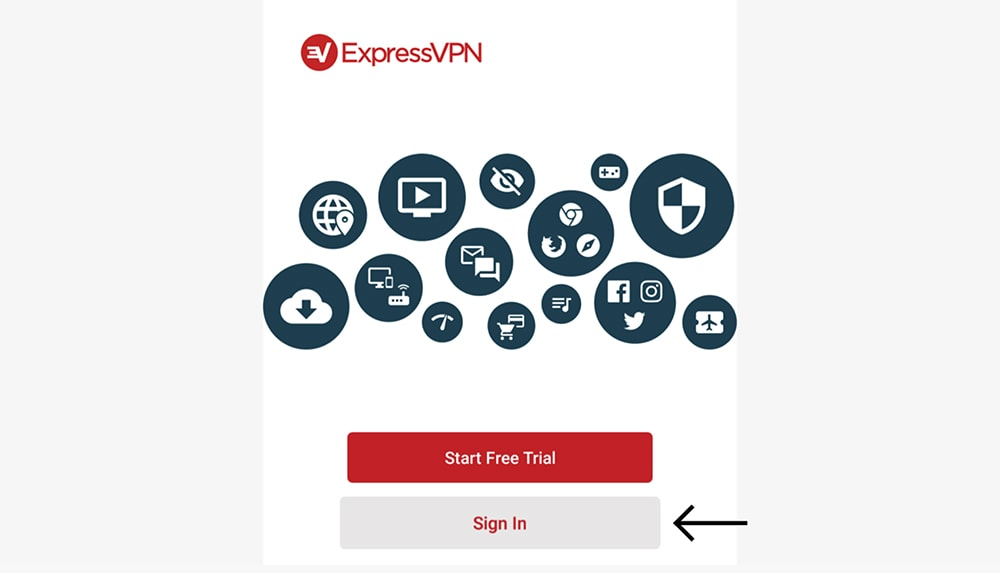 Signing In to ExpressVPN on FireOS