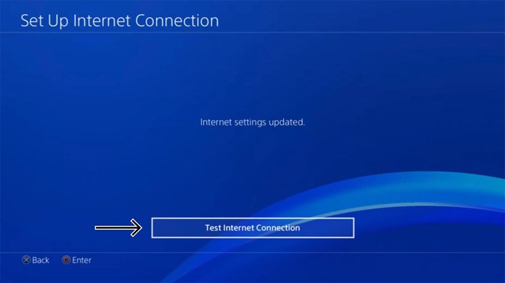 Testing Internet Connection on PlayStation