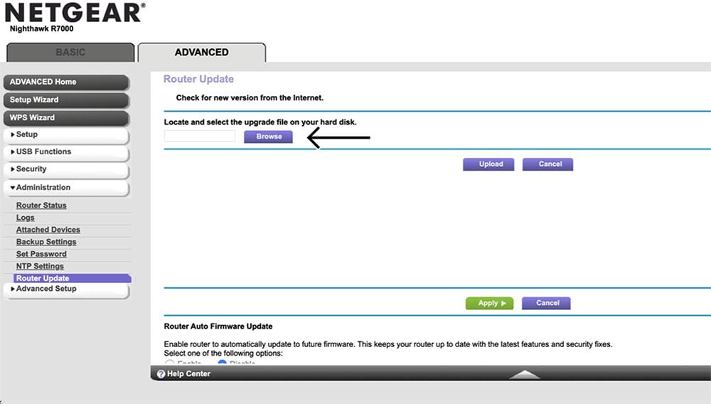 Uploading ExpressVPN Firmware on Netgear Router