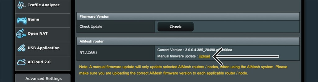 Uploading ExpressVPN Firmware to Asus Router