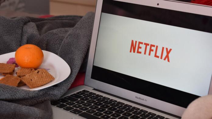 Netflix Logo On MacBook Air