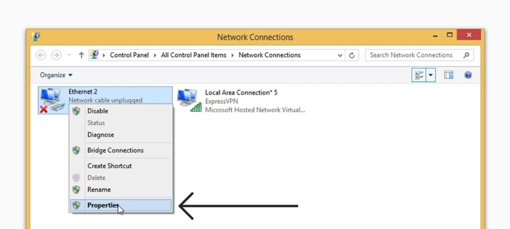 Accessing ExpressVPN TAP Options