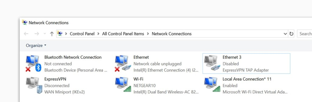 Accessing Network Connections on Windows